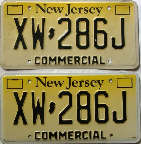 New Jersey  (Non Passenger) license plate for sale