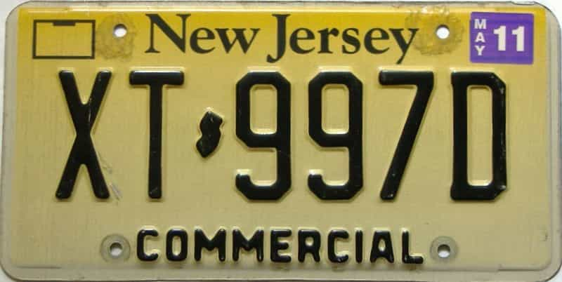 2011 New Jersey  (Single) license plate for sale