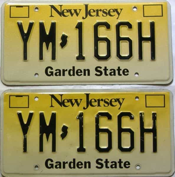 New Jersey  (Pair) license plate for sale