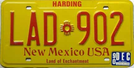 1990 New Mexico license plate for sale
