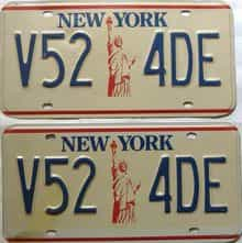 New York  (Pair) license plate for sale