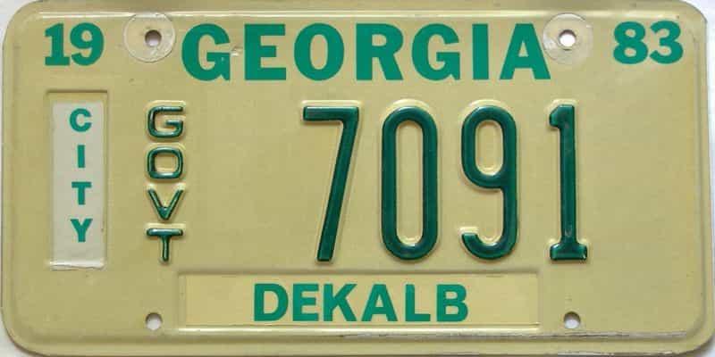 1983 Georgia license plate for sale