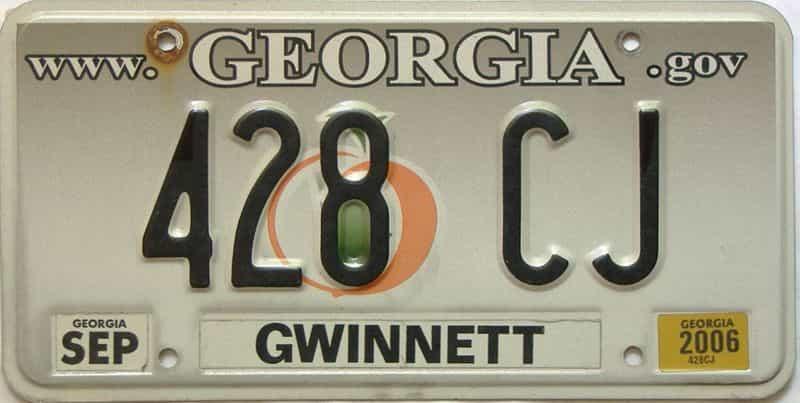2006 Georgia  (Vanity) license plate for sale
