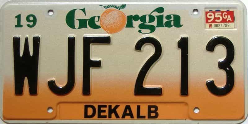 1995 Georgia license plate for sale
