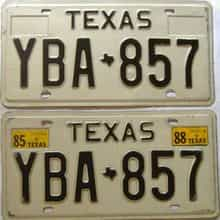 1988 Texas  (Pair) license plate for sale