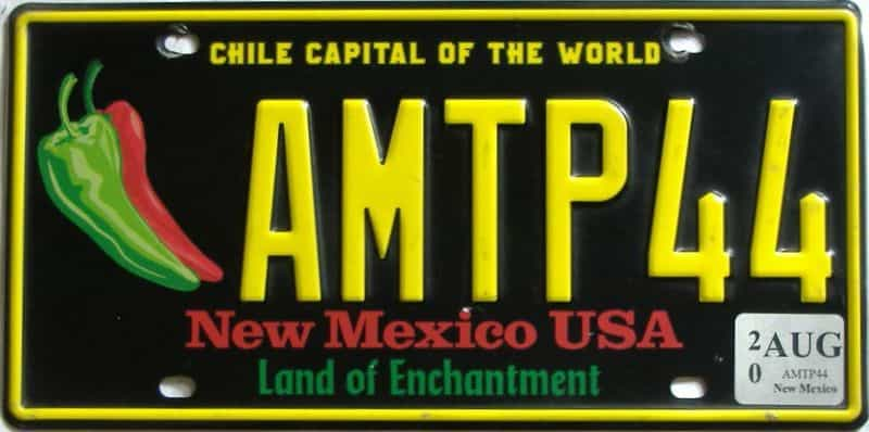 2020 New Mexico license plate for sale