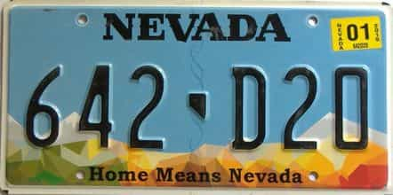 2019 Nevada  (Single) license plate for sale