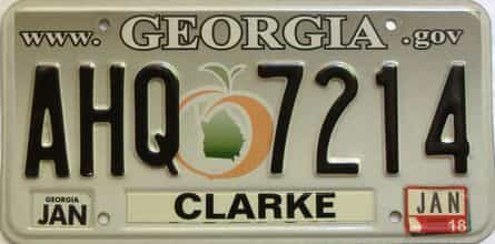 2018 Georgia Counties (Clarke) license plate for sale