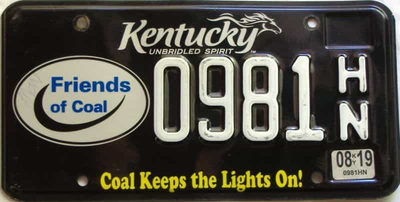 2019 Kentucky license plate for sale