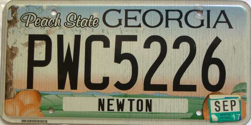 2017 Georgia Counties (Newton) license plate for sale