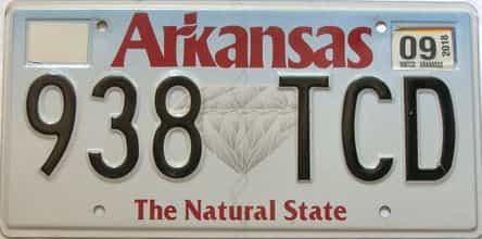 2018 Arkansas license plate for sale