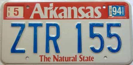 1994 Arkansas license plate for sale
