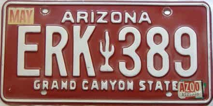 2000 Arizona license plate for sale