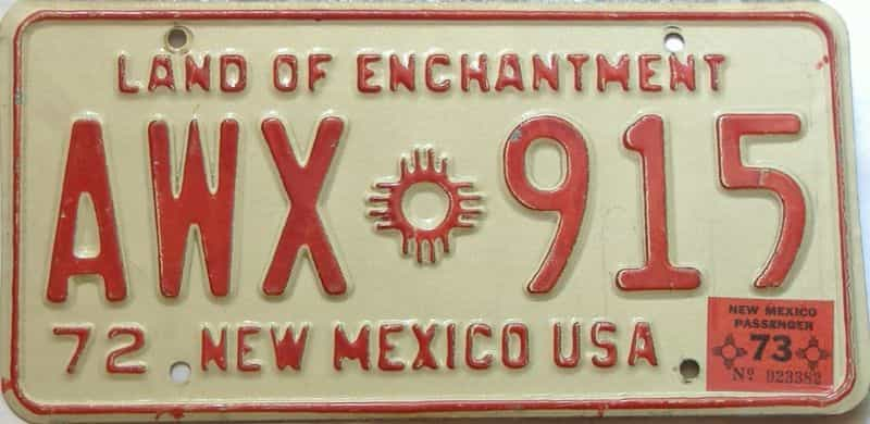 1973 New Mexico license plate for sale