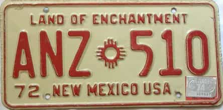 1974 New Mexico license plate for sale