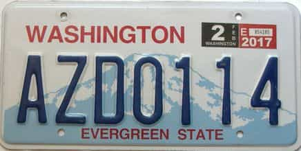 2017 Washington  (Single) license plate for sale