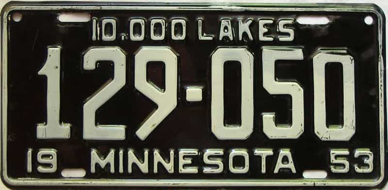 1953 Minnesota  (Single) license plate for sale
