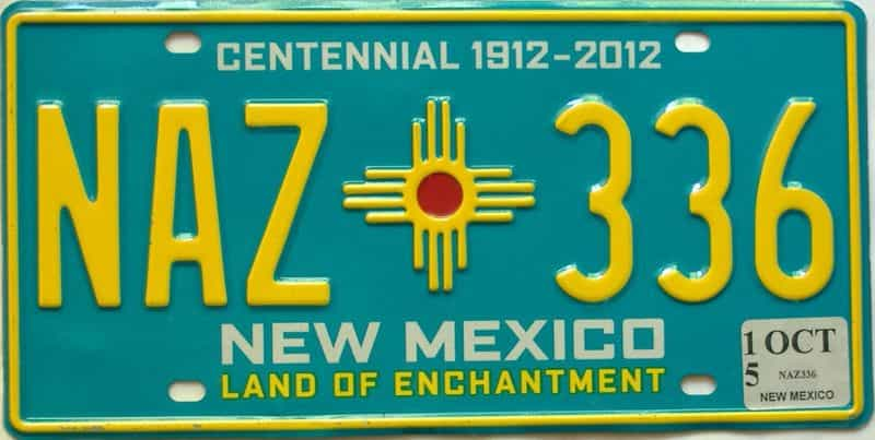 2015 New Mexico license plate for sale
