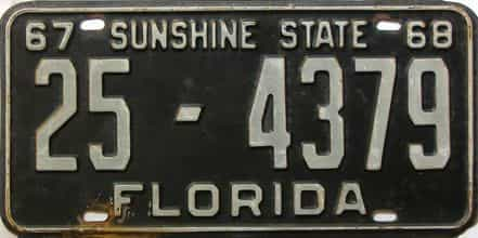 1967 Florida license plate for sale