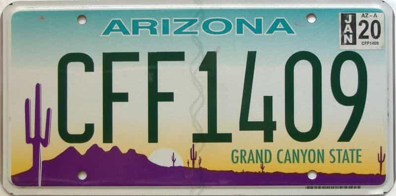 2020 Arizona license plate for sale