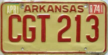 1974 Arkansas license plate for sale