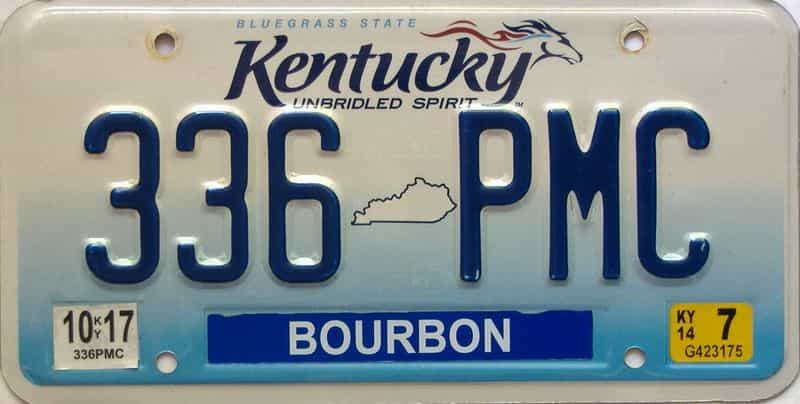 2014 Kentucky license plate for sale