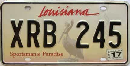 2017 Louisiana license plate for sale