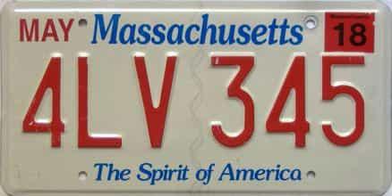 2018 Massachusetts  (Single) license plate for sale