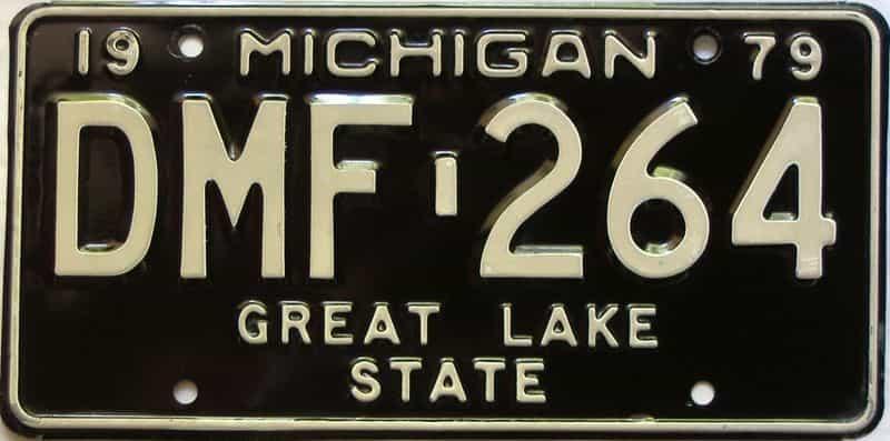 1979 Michigan  (Single) license plate for sale