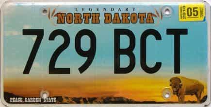 2018 North Dakota  (Single) license plate for sale