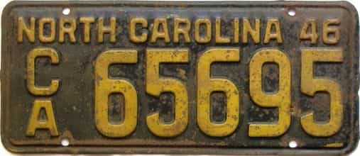1946 North Carolina  (Trailer) license plate for sale