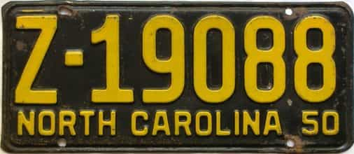 1950 North Carolina  (Trailer) license plate for sale