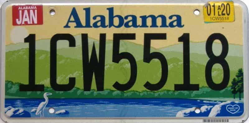 2020 Alabama license plate for sale
