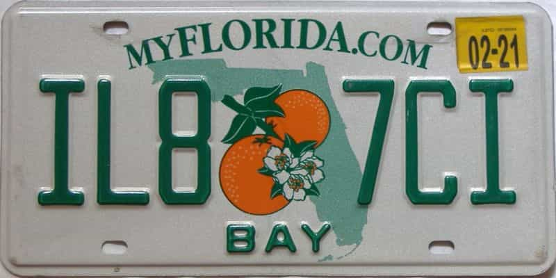 2021 Florida license plate for sale