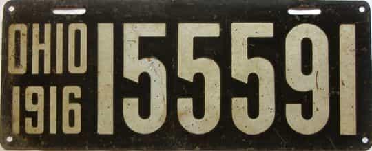 1916 Ohio  (Single) license plate for sale