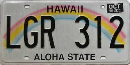 2018 Hawaii  (Single) license plate for sale