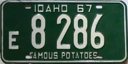 1967 Idaho  (Single) license plate for sale