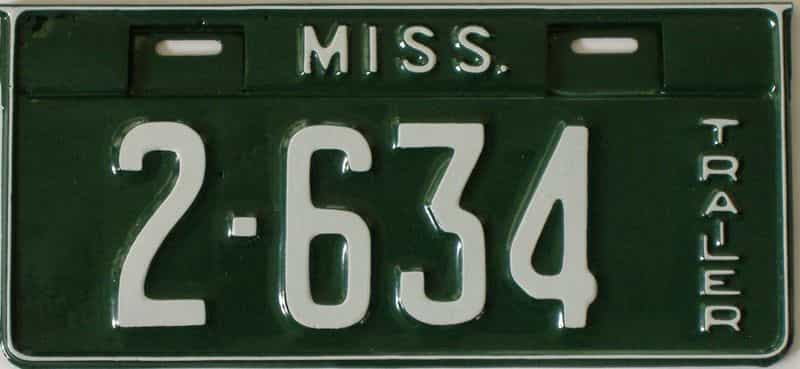 1934 Mississippi  (Very Nice Repaint) license plate for sale