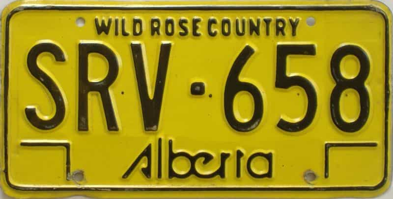 1975 Alberta (Single) license plate for sale