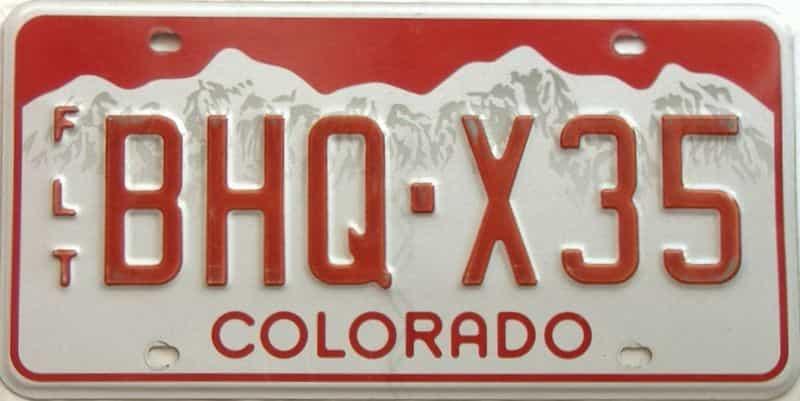 Colorado  (Non Passenger) license plate for sale