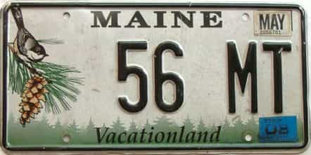 2008 Maine  (Single) license plate for sale