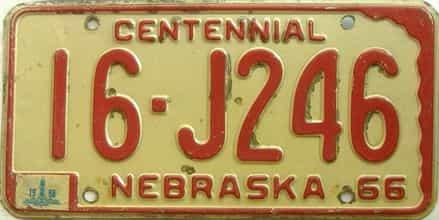 1968 Nebraska license plate for sale