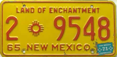 1971 New Mexico license plate for sale