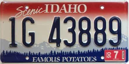 1990 Idaho  (Single) license plate for sale