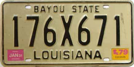 1979 Louisiana license plate for sale