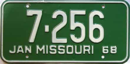 1968 Missouri license plate for sale