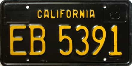 1963 California  (Trailer) license plate for sale