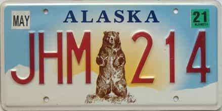 2021 Alaska  (Single) license plate for sale