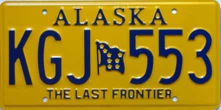 Alaska  (Single) license plate for sale