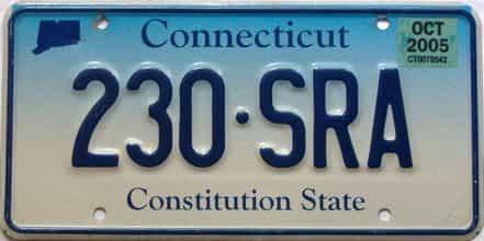 2005 Connecticut  (Single) license plate for sale